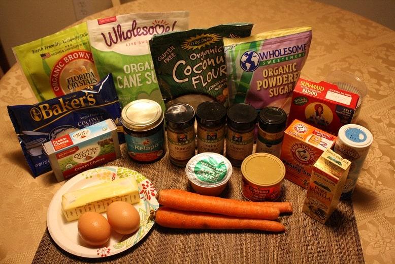 Carrot Cake Muffins Recipe Ingredients