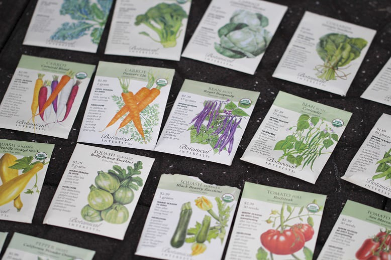 Victory Garden Seed Recommendations