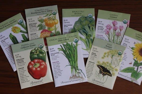 Seed Favorites: Botanical Interests